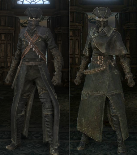 The Yharnam Hunter Set.